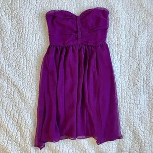 AQUA Strapless Silk Cocktail Sweetheart Dress, NWT